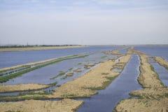 Bancos de arena en el río Imagen de archivo libre de regalías