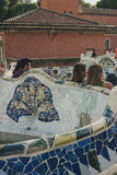 Bancos de Guell do parque, modernismo Fotos de Stock Royalty Free