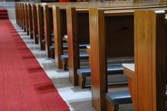 Bancos de la iglesia Imagen de archivo libre de regalías