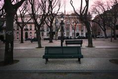 Bancos de Lisboa portugal foto de archivo libre de regalías