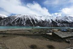 Bancos de Ranwuhu dos povos tibetanos Foto de Stock Royalty Free