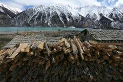 Bancos de Ranwuhu dos povos tibetanos Fotografia de Stock