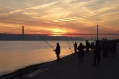 Bancos do Tagus Lisboa Portugal fotos de stock royalty free