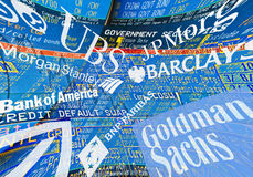 Bancos globais Fotografia de Stock Royalty Free