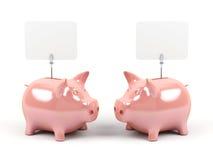 Bancos Piggy. Fotos de Stock Royalty Free