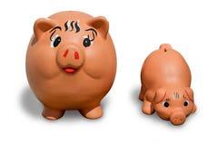 Bancos Piggy Imagem de Stock