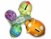 Bancos Piggy Imagens de Stock