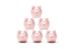 Bancos piggy cor-de-rosa Imagens de Stock Royalty Free