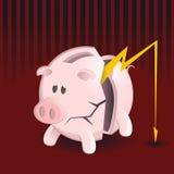 Bancos Piggy da bancarrota Imagem de Stock