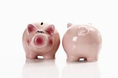 Bancos Piggy, muitos Fotos de Stock