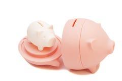 Bancos Piggy, muitos Imagens de Stock Royalty Free