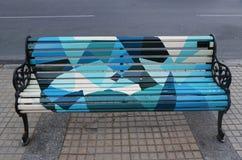 Bancos pintados do Santiago em Las Condes, Santiago de Chile Imagens de Stock