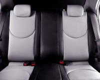 Bancos traseiros do carro interiores imagens de stock royalty free