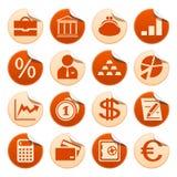 Bancos y etiquetas engomadas de las finanzas Foto de archivo libre de regalías