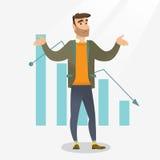 Bancrupt biznesowego mężczyzna wektoru ilustracja ilustracja wektor