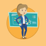 Bancrupt business woman vector illustration. Royalty Free Stock Photography