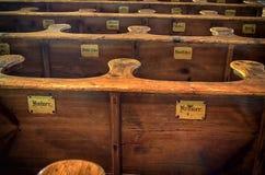 Bancs d'église Images stock