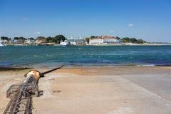 Bancs de sable et port de piscine dans Dorset Photo libre de droits