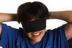 Bandé les yeux Photographie stock libre de droits