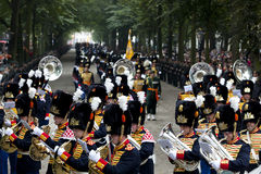 Band accompanying golden carriage Royalty Free Stock Images