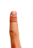 Band-Aid. Top side of band aid isolated on white background Royalty Free Stock Photo