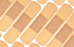 Band Aid Background. Image Isolated on White with a Clipping Path Royalty Free Stock Photos