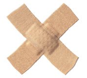 Band aid crossed - Stock Image stock image