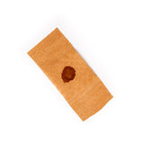 Band aid dried blood isolated white Stock Photos