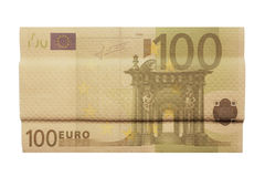 Band aid for economy. 100 euro banknote with band aid texture Stock Photo