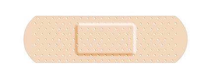 Band-Aid esparadrapo bege da atadura ilustração royalty free