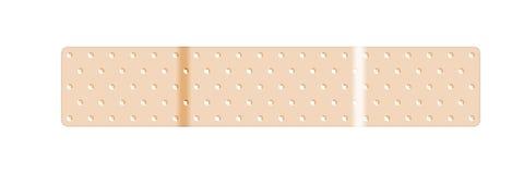 Band-Aid esparadrapo bege da atadura ilustração stock