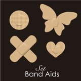Band aids collection Stock Image