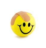 Band-aids smiling. Ball close-up isolated on white background Stock Photography