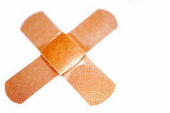 Band-aids on white Royalty Free Stock Photos