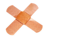 Band-aids on white royalty free stock photo