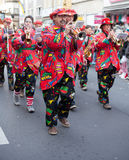 Band as part of the carnival parade Royalty Free Stock Image