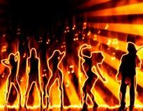 Band auf Feuer Stockbilder