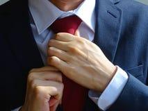 Band av en tie royaltyfri bild