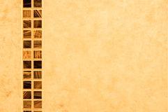 Band av tegelplattor på badrumväggen Royaltyfri Bild