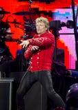 Band Bon Jovi führt ein Konzert durch lizenzfreies stockbild