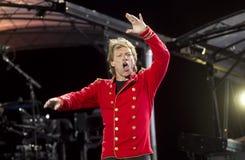 Band Bon Jovi performs a concert Royalty Free Stock Image