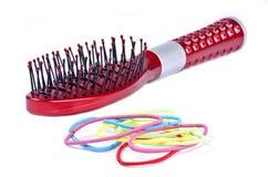 band brush färgrikt hårredgummi Royaltyfria Foton