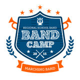 Band camp emblem Royalty Free Stock Photos