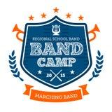 Band camp emblem. Band camp marching drum corp emblem badge Royalty Free Stock Photos