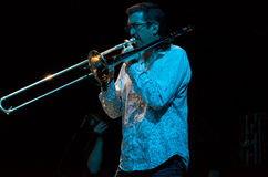 band carlos cressman jeff s santana Royaltyfria Foton