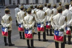 band chile de militär santiago Arkivfoto