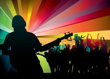 Band at a concert Stock Images