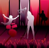 Band at a concert Royalty Free Stock Image