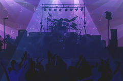 Band Concert With Spotlights Royalty Free Stock Images