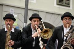 Band, das Windinstrumente spielt Lizenzfreie Stockfotografie